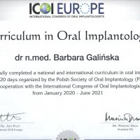 Curriculum in Oral Implantology