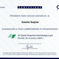 Certyfikat - CEDE 2009