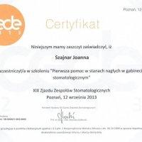 Certyfikat - cede 2013