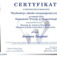 Certyfikat - Szkolenie Komisji ds. Lekarzy Dentystów