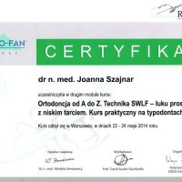 Certyfikat - Kurs ortodontyczny