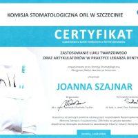Certyfikat 2018/09/14