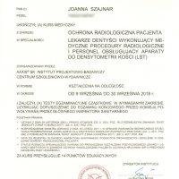 Certyfikat ukończenia szkolenia 2018/09/30