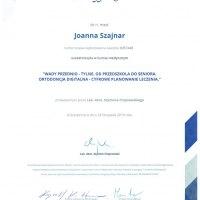 Certyfikat kursu medycznego