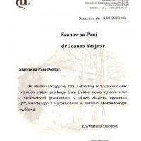 Dyplom - Okręgowa Izba Lekarska w Szczecinie