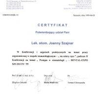 Certyfikat Dental Service Sp. z o.o. - Centrum Informacji Stomat