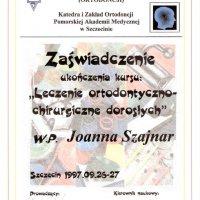 Zaświadczenie ukończenia kursu - PAM Szczecin