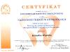 Certyfikat - Najnowsze Trendy w Stomatologii