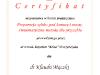 Certyfikat - kurs protetyczny