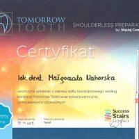 Certyfikat Tomorrow Tooth