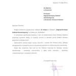 Gratulacje z Urzędu Marszałkowskiego Województwa Zachodniopomorskiego